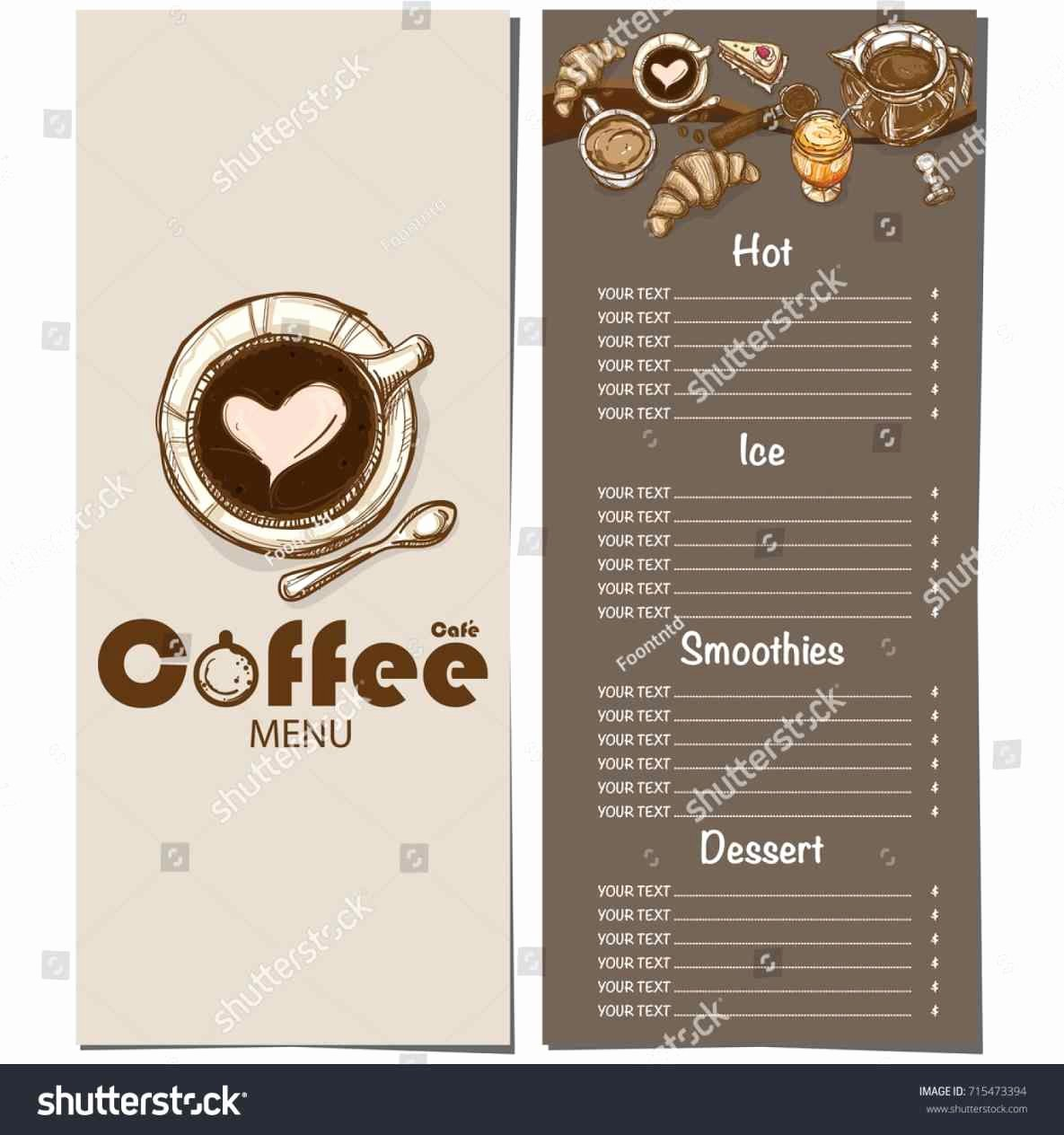 Coffee Shop Menu Template Inspirational the Collection Of Flyer Coffee Shop Menu Templates