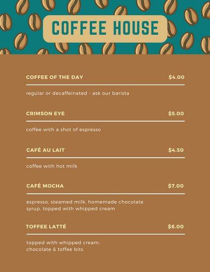 Coffee Shop Menu Template Lovely Customize 283 Coffee Shop Menu Templates Online Canva