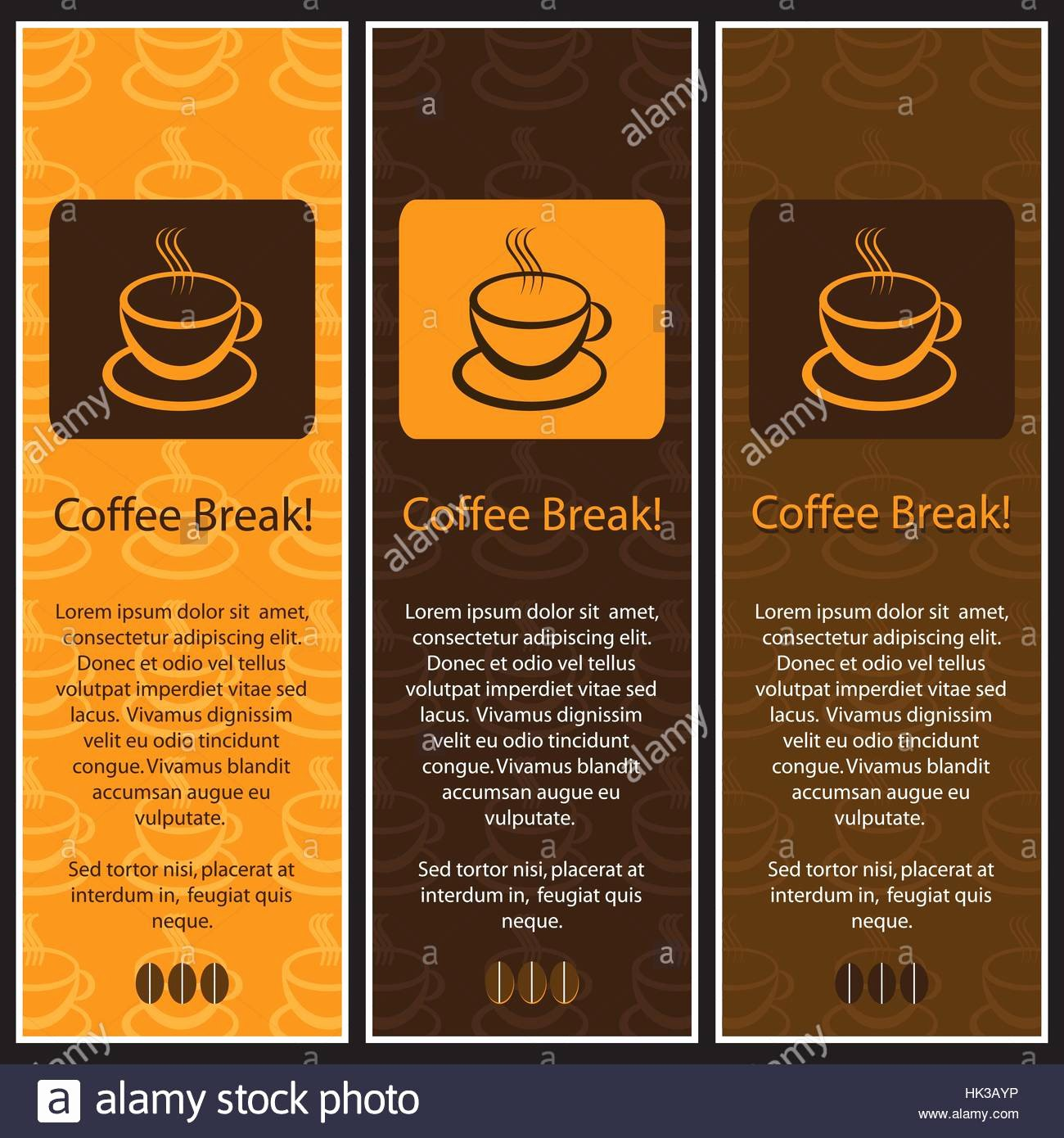 Coffee Shop Menu Template Lovely Set Of 3 Coffee Shop Banner or Menu Template Designs Stock