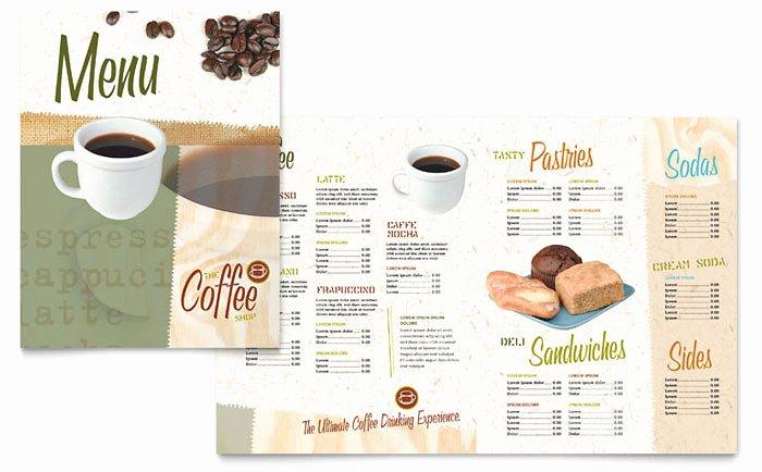Coffee Shop Menu Template New Coffee Shop Menu Template Design