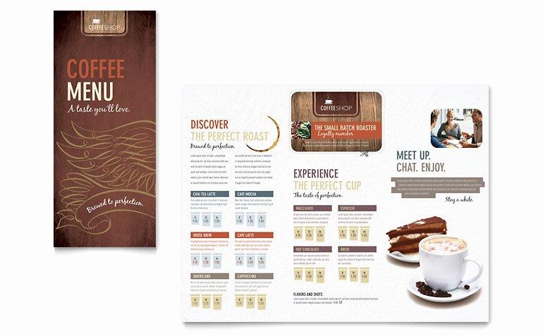 Coffee Shop Menu Template New Coffee Shop Menu Template Word & Publisher
