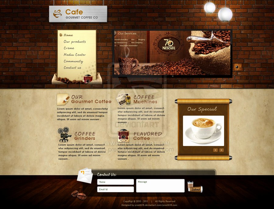 Coffee Shop Website Template Awesome Cafebrands Coffee Websites Exp by Preet618 On Deviantart