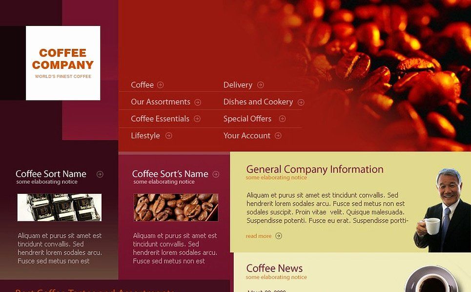 Coffee Shop Website Template Awesome Coffee Shop Website Template
