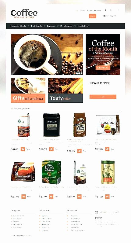 Coffee Shop Website Template Beautiful Template Coffee Gourmet theme Shop Website Templates Free
