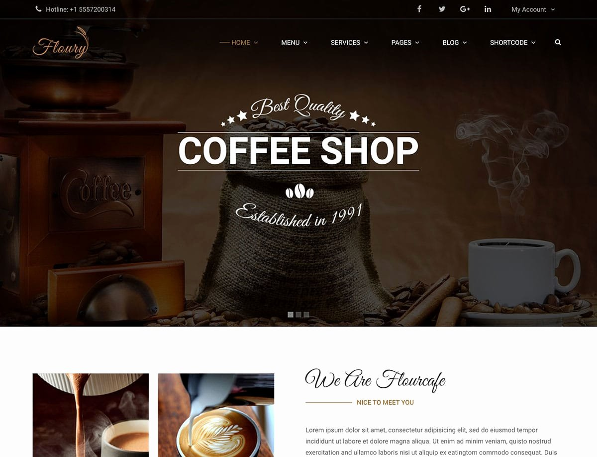 Coffee Shop Website Template Best Of 10 Best Coffee Shop Wordpress themes 2019