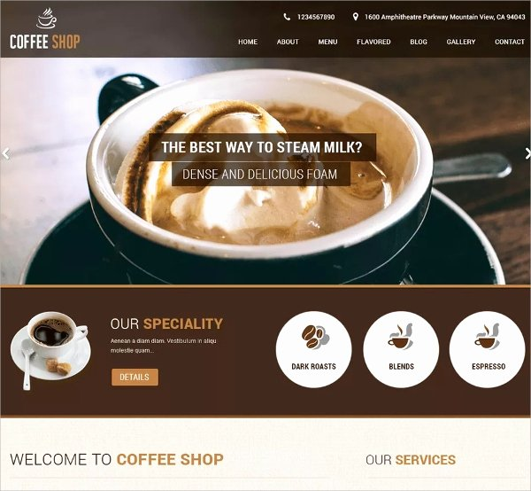 Coffee Shop Website Template Best Of 12 Coffee Shop Website themes & Templates