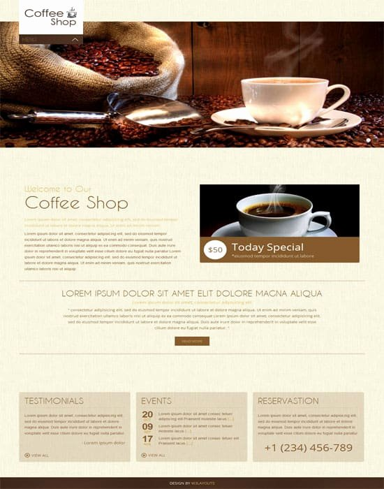 Coffee Shop Website Template Best Of 70 Best Cafe Restaurant Website Templates Free & Premium