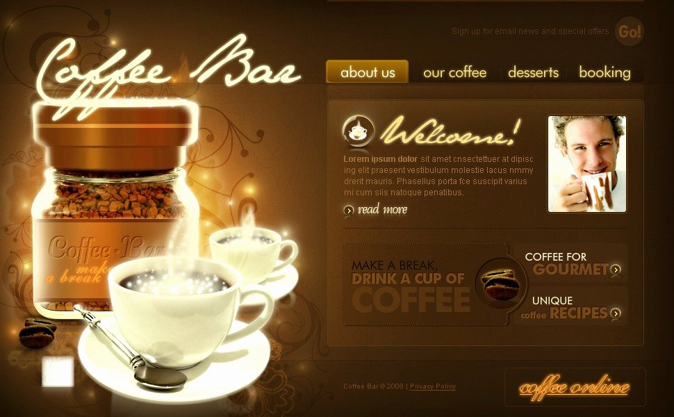 Coffee Shop Website Template Best Of Coffee Shop Flash Template