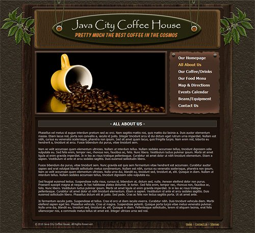 Coffee Shop Website Template Best Of Coffee Shop Website Template Coffee House Web Template