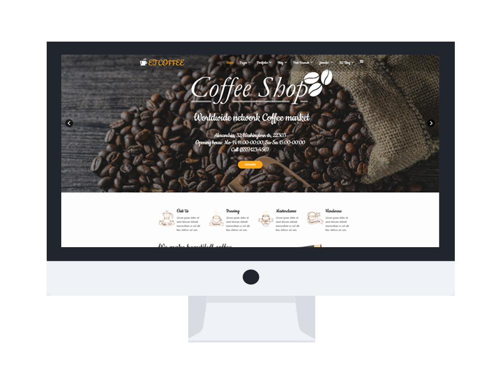 Coffee Shop Website Template Elegant Et Coffee – Free Responsive Coffee Website Templates