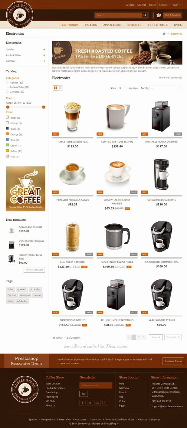 Coffee Shop Website Template Elegant New Coffee Shop Website Template Download New themes