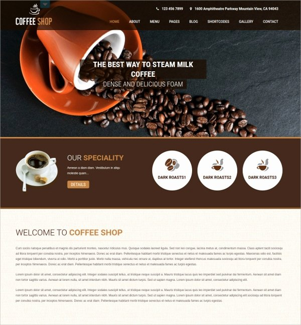 Coffee Shop Website Template Fresh 21 Responsive Shopify Website themes & Templates