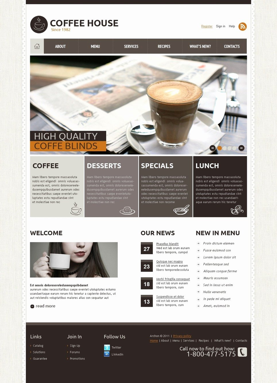 Coffee Shop Website Template Fresh Coffee Shop Joomla Template