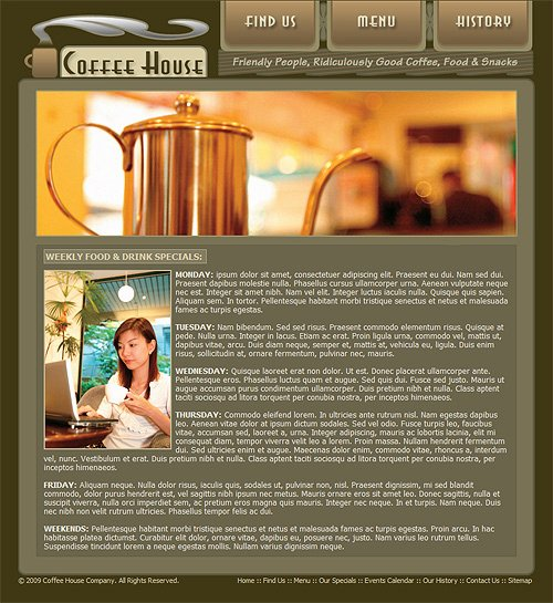Coffee Shop Website Template Fresh Coffee Shop Website Template Coffee Web Template 212