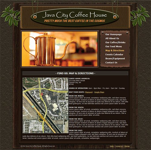 Coffee Shop Website Template Inspirational Coffee Shop Website Template Coffee House Web Template