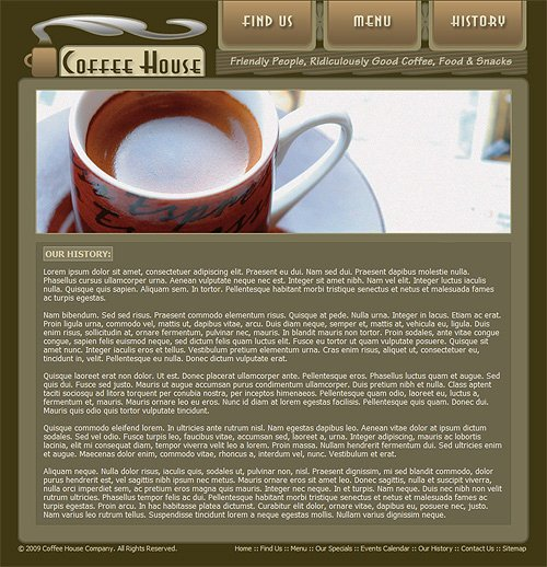 Coffee Shop Website Template Inspirational Coffee Shop Website Template Coffee Web Template 212