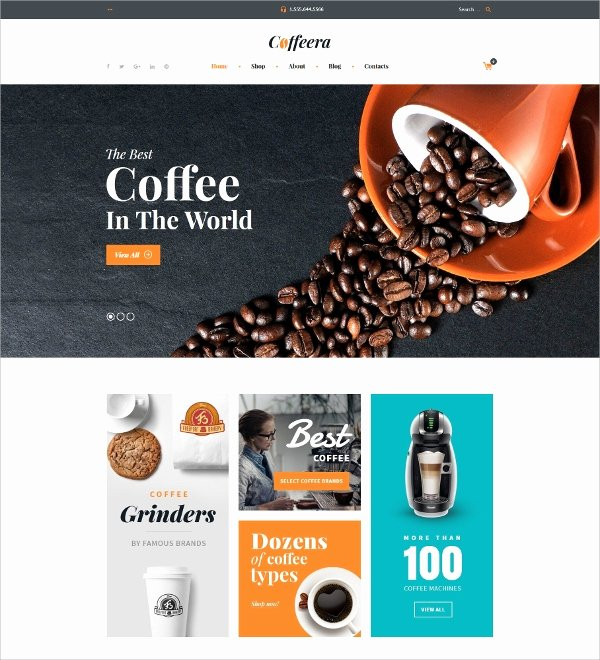 Coffee Shop Website Template Lovely 12 Coffee Shop Website themes & Templates