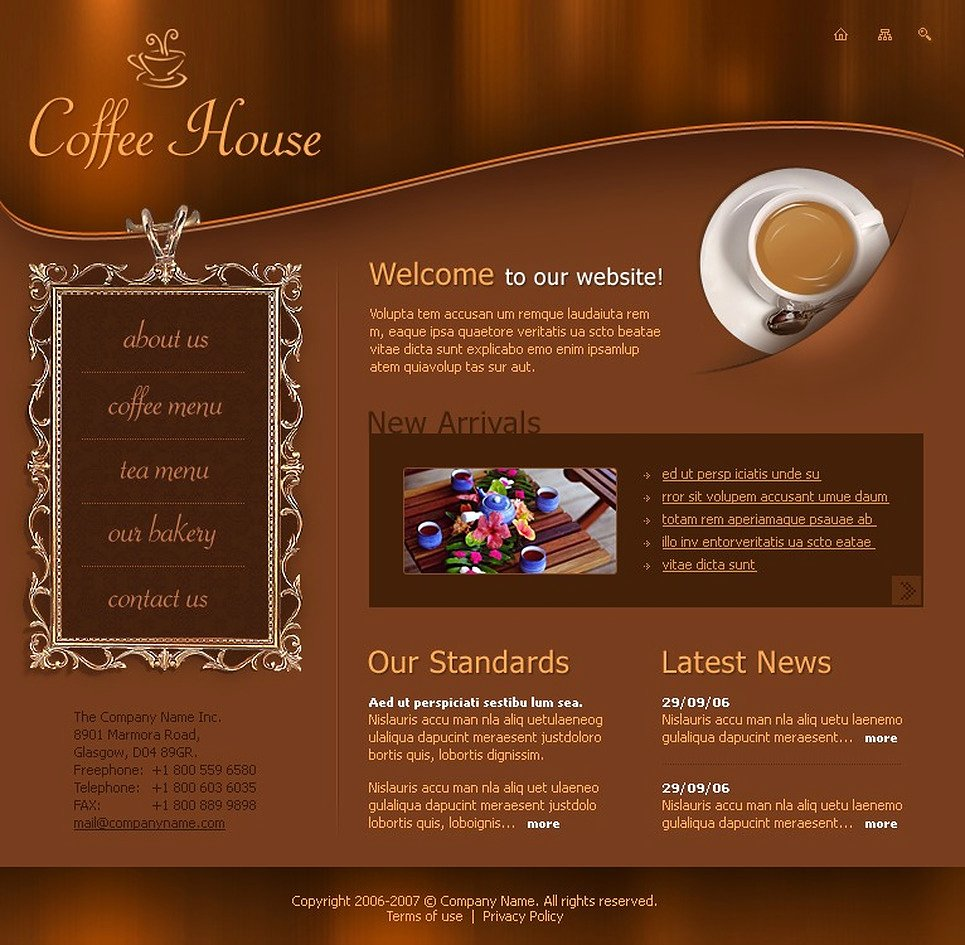 Coffee Shop Website Template Lovely Coffee Shop Flash Template Web Design Templates Website