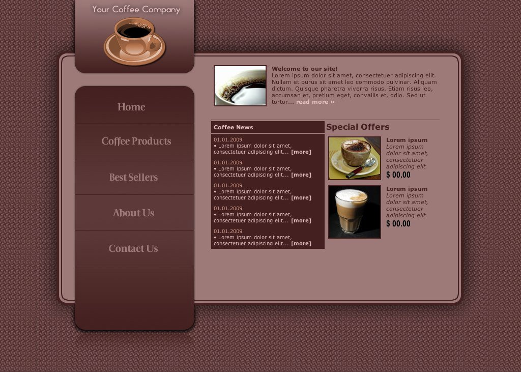 Coffee Shop Website Template Lovely Coffee Shop Web Template by R3 Slothwasted