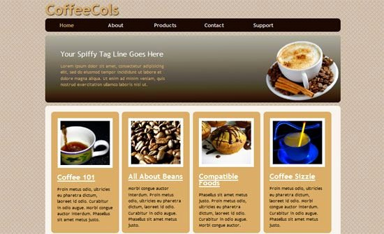 Coffee Shop Website Template Luxury Coffee Shop HTML5 and Css3 Style Template