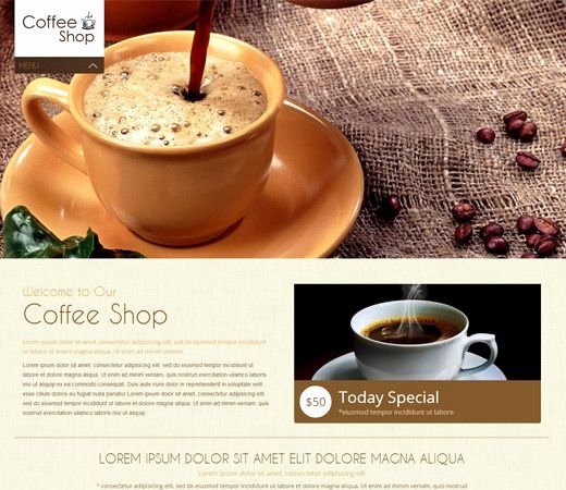 Coffee Shop Website Template Luxury Coffee Shop Mobile Website Template by W3layouts