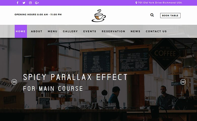 Coffee Shop Website Template New Kafe – Responsive Free Coffee Shop Website Template
