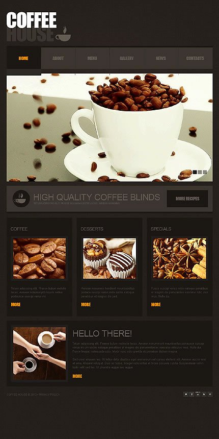 Coffee Shop Website Template New Tasteful Coffee Website Template Designs for Your