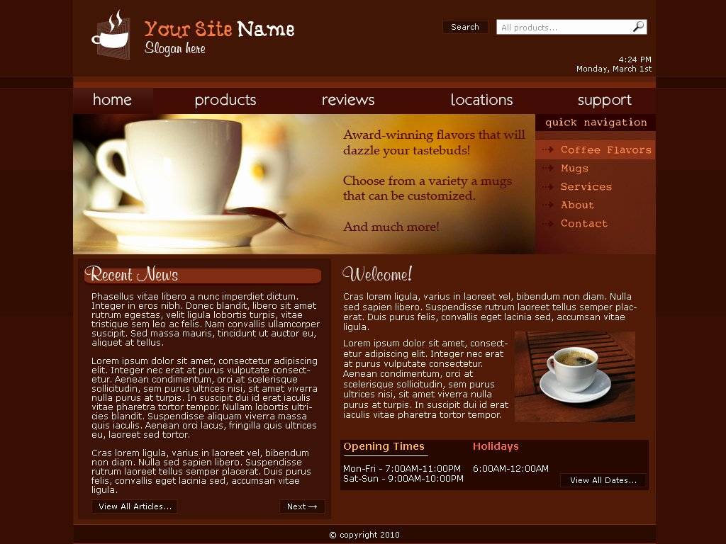 Coffee Shop Website Template New Web Template Coffee Shop by sonic Gal007 On Deviantart
