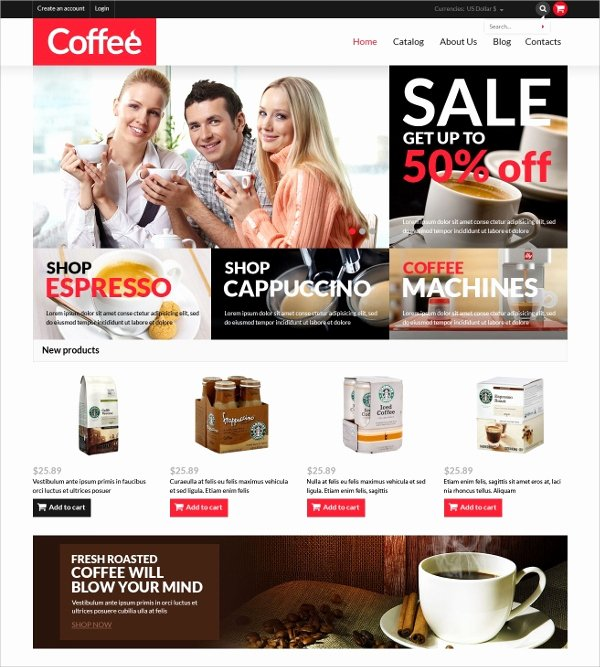 Coffee Shop Website Template Unique 12 Coffee Shop Website themes & Templates