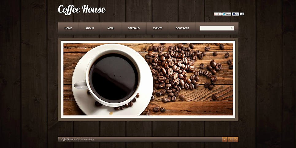 Coffee Shop Website Template Unique Coffee Shop Flash Cms Template