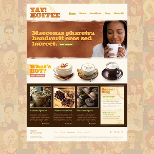 Coffee Shop Website Template Unique Coffee Shop Web Template