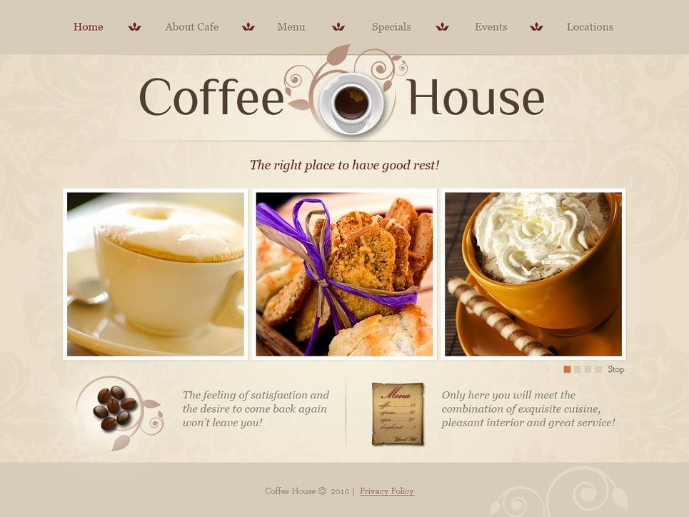 Coffee Shop Website Template Unique Coffee Shop Website Template