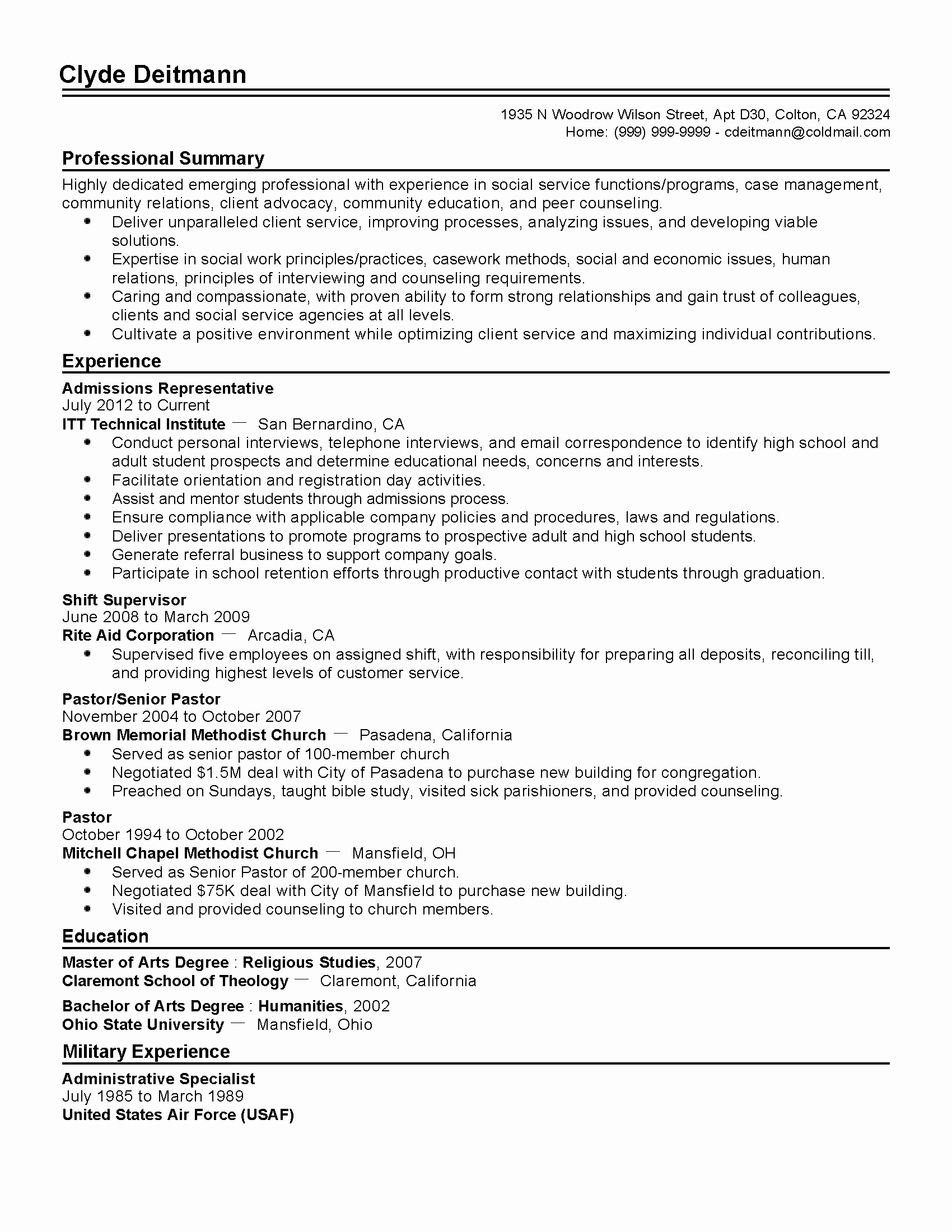 College App Resume Template Best Of Professional Admissions Representative Templates to