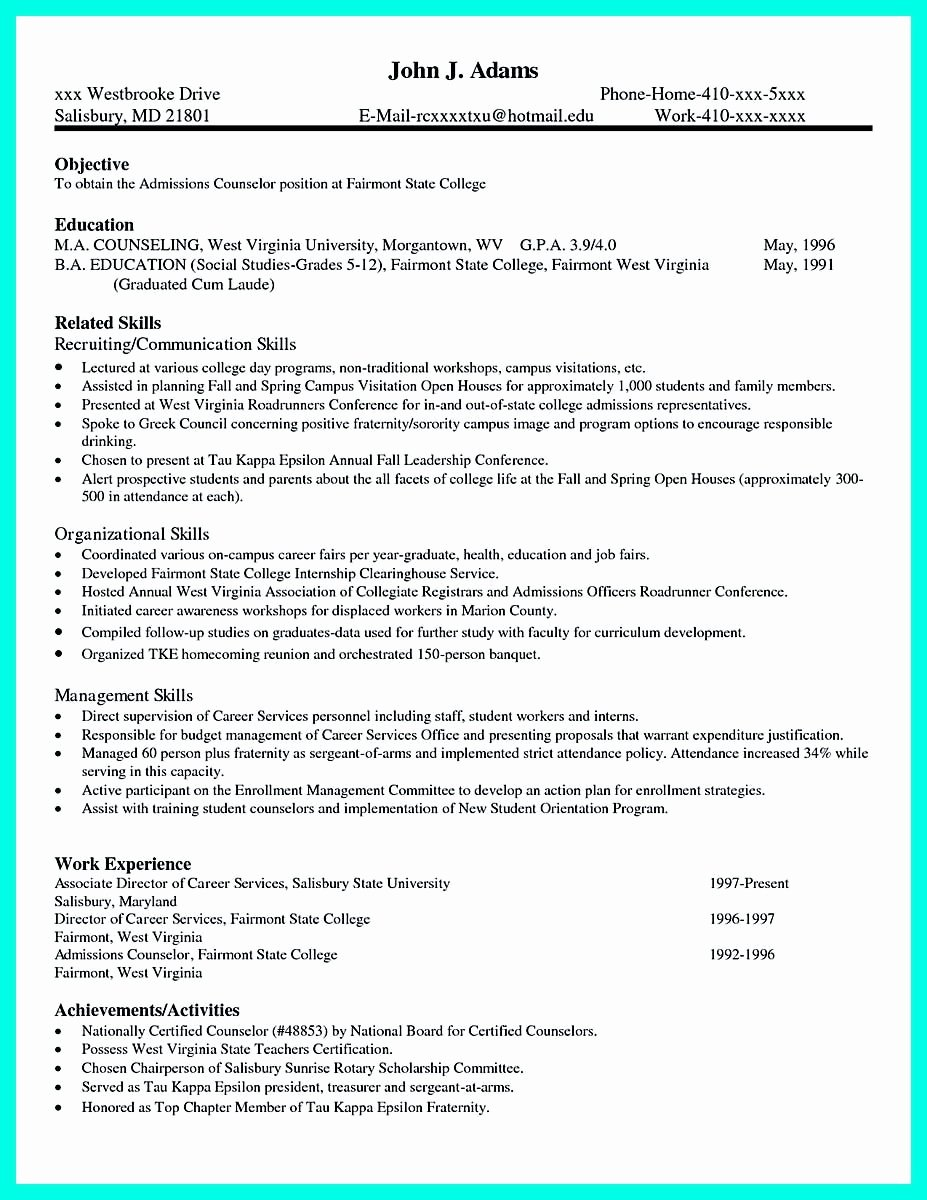 College App Resume Template Fresh Pin On Resume Template