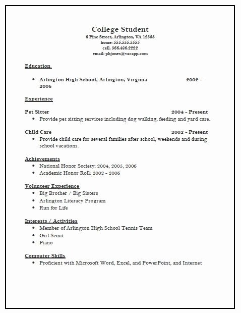 College App Resume Template Inspirational College Admissions Resume Samples Best Resume Collection