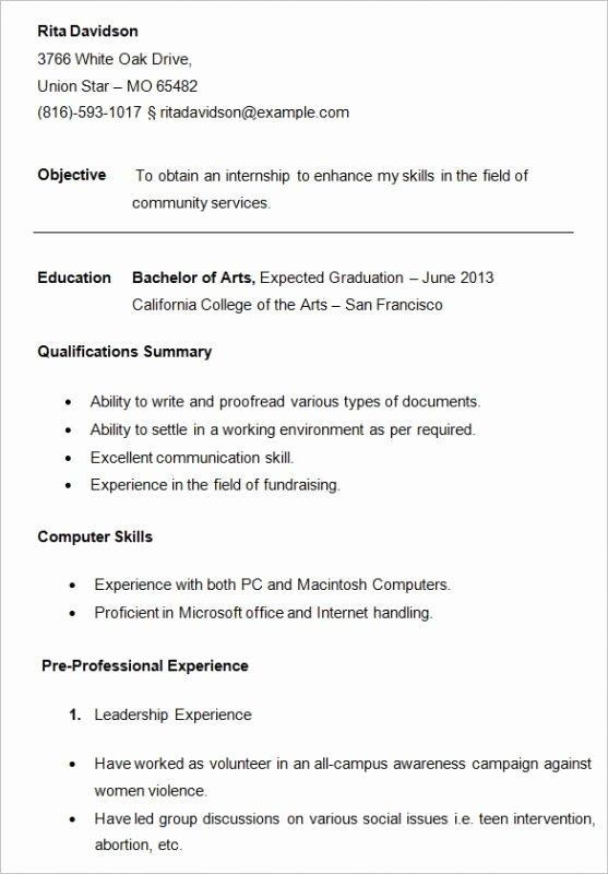 College App Resume Template Luxury College Resume Samples