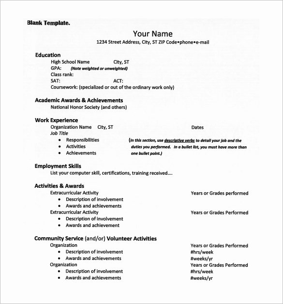 College App Resume Template New 12 College Resume Templates Pdf Doc
