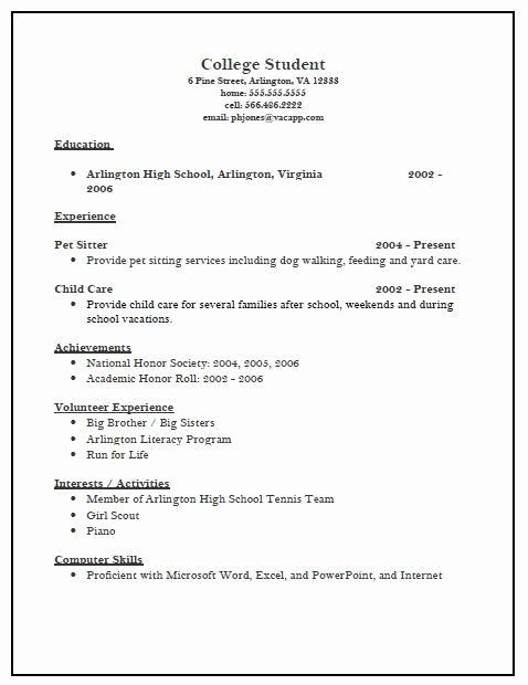 College App Resume Template Unique Pin Oleh Jobresume Di Resume Career Termplate Free