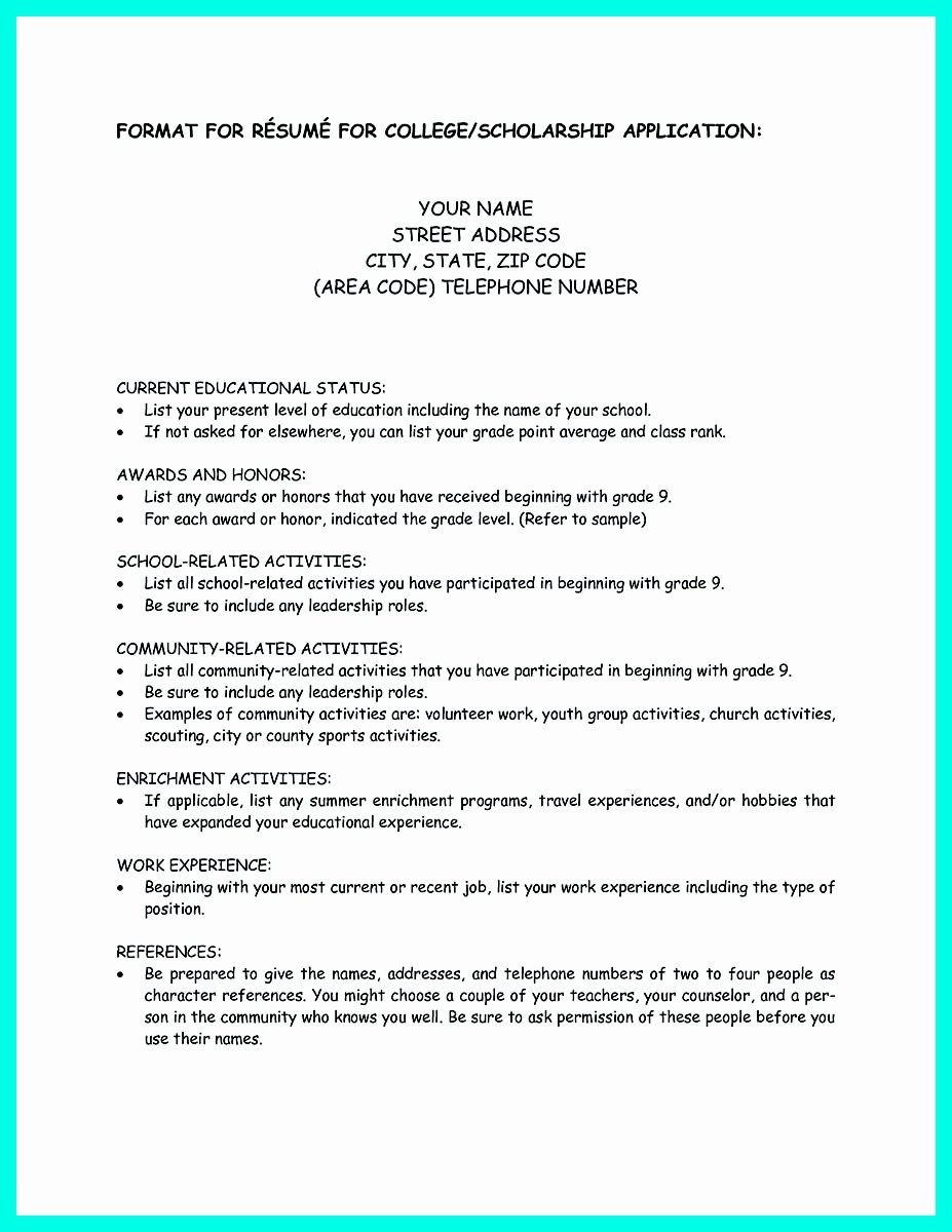 College App Resume Template Unique Write Properly Your Ac Plishments In College Application