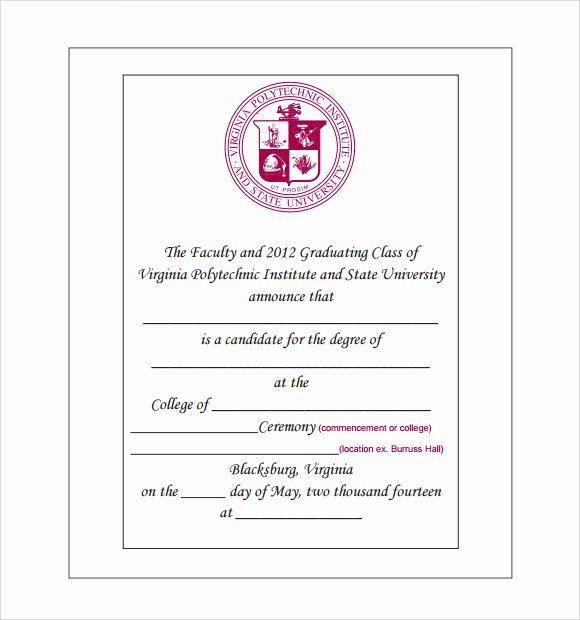 College Graduation Invitation Template Awesome 9 Graduation Announcement Templates for Free Download