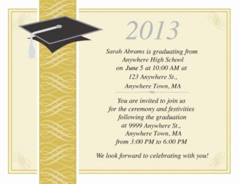 College Graduation Invitation Template Beautiful College Graduation Invitation Templates
