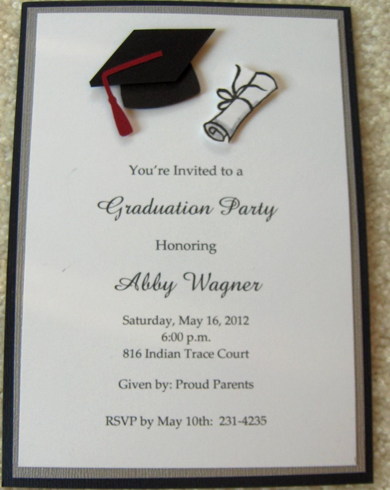 College Graduation Invitation Template Beautiful College Graduation Party Invitations