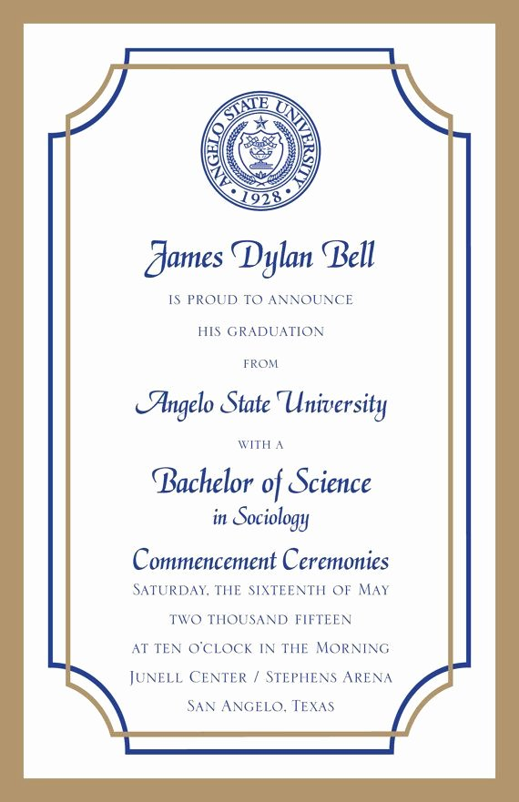 College Graduation Invitation Template Best Of 25 Best Ideas About College Graduation Announcements On