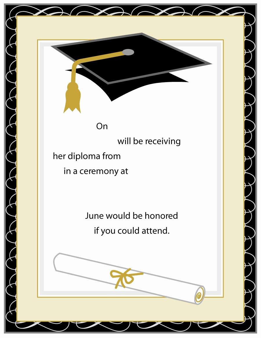 College Graduation Invitation Template Best Of 40 Free Graduation Invitation Templates Template Lab