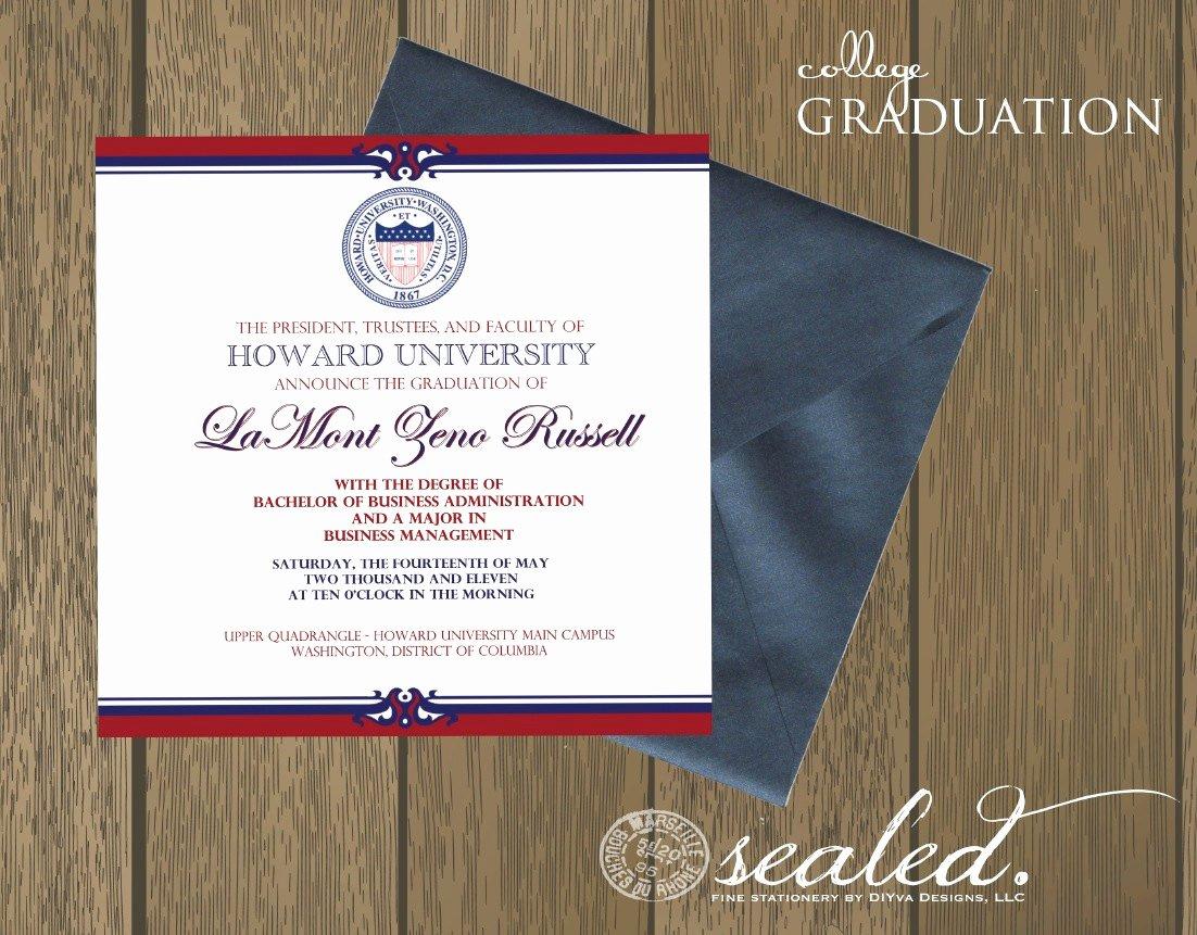 College Graduation Invitation Template Elegant Graduation Invitation Templates College Graduation