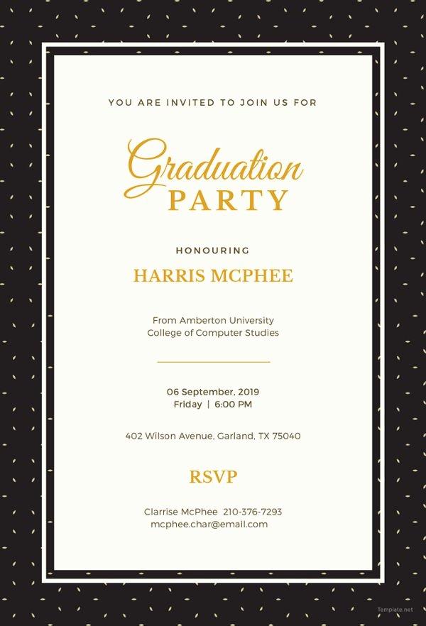 College Graduation Invitation Template Fresh 19 Graduation Invitation Templates Invitation Templates