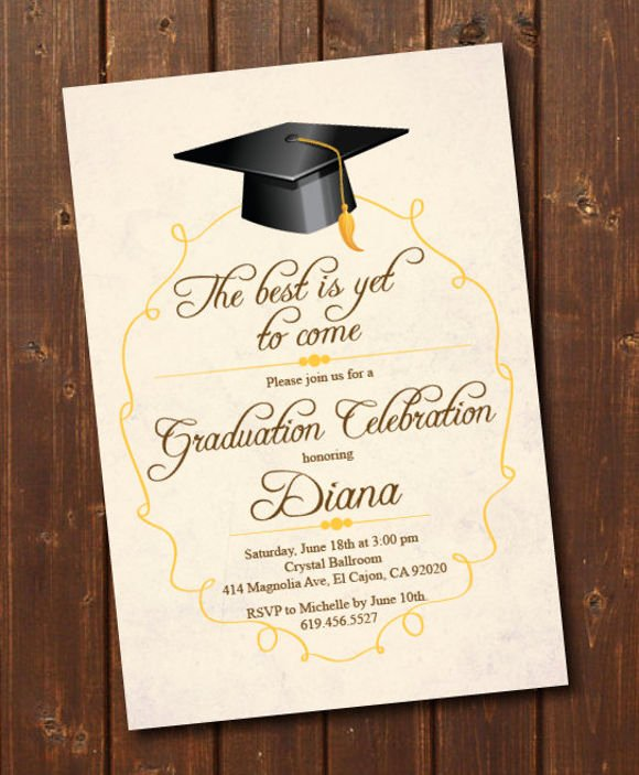 College Graduation Invitation Template Fresh 78 Invitation Card Examples Word Psd Ai Word