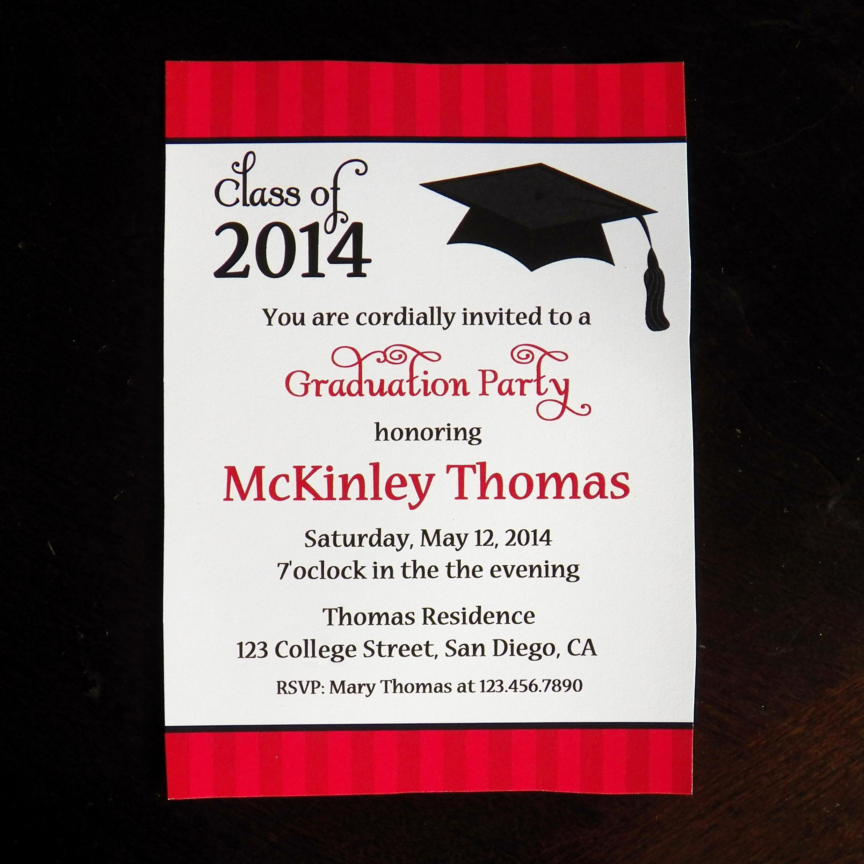 College Graduation Invitation Template Fresh College Graduation Party Invitations