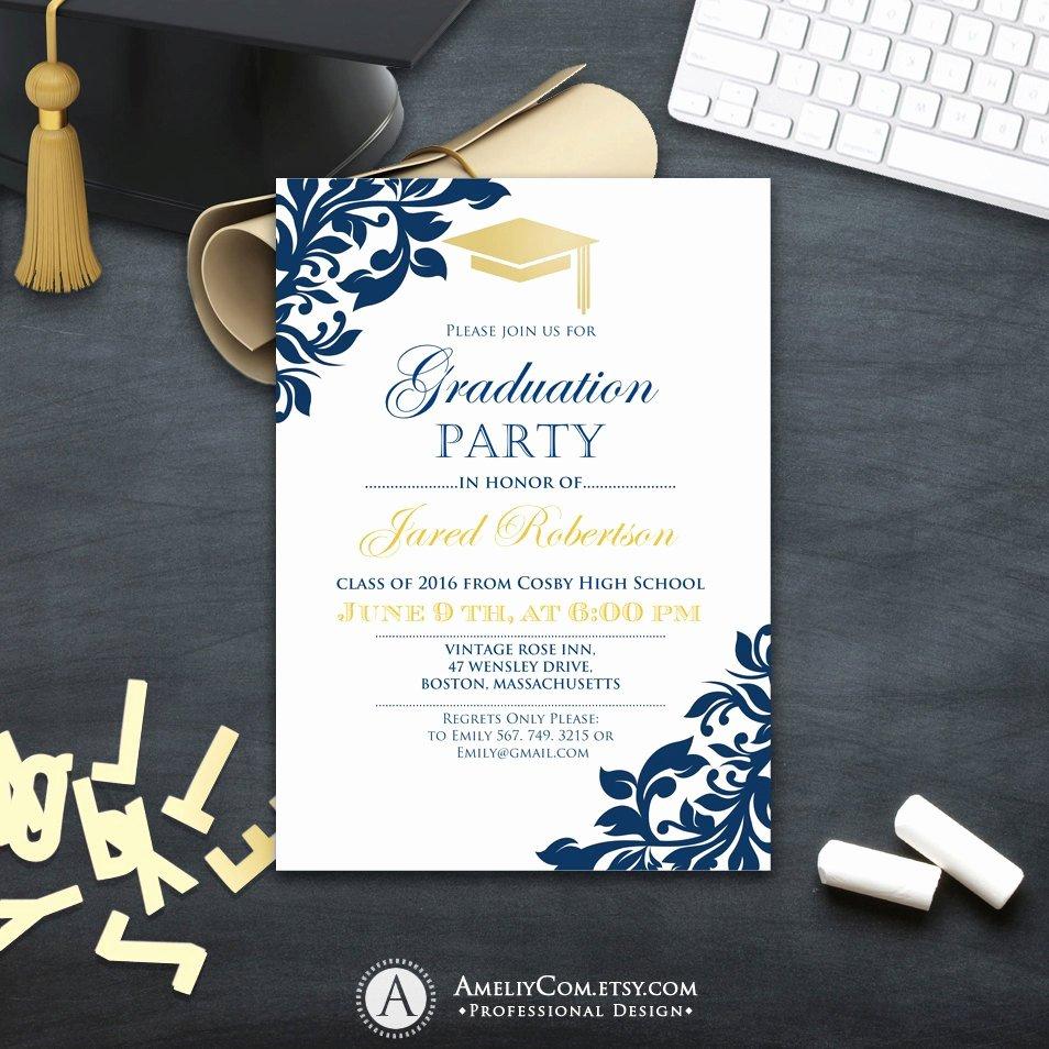 College Graduation Invitation Template Fresh Graduation Party Invitation Сollege Printable Template Boy