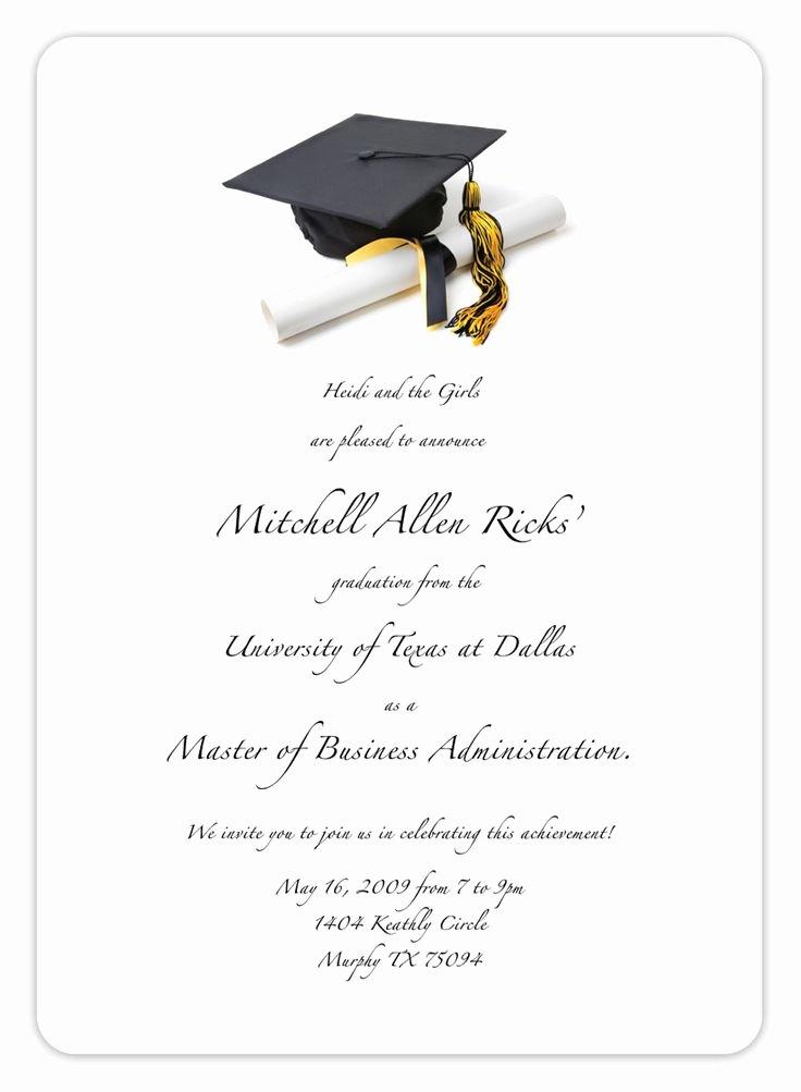 College Graduation Invitation Template Inspirational Free Printable Graduation Invitation Templates 2013 2017